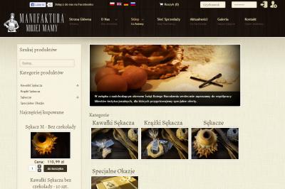 manufakturamojejmamy.pl - strona www i sklep internetowy - galeria, optymalizacja SEO, mapa punktów sprzedaży, kampania SEM (AdWords);