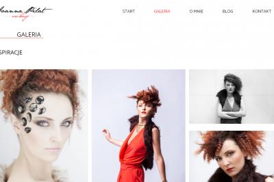 joannapilat.pl - responsywna strona www - projekt graficzny, galeria, optymalizacja SEO;