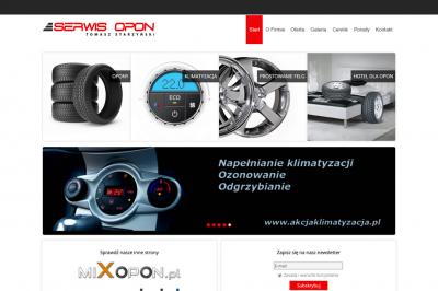 serwisoponlodz.pl - responsywna strona www - projekt graficzny, galeria, optymalizacja SEO, newsletter;